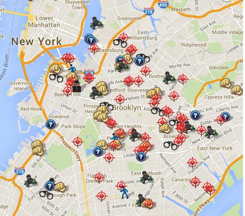 Brooklyn gun crimes 2014 one week statistics