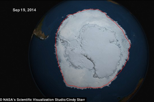 Antarctica record ice 2014