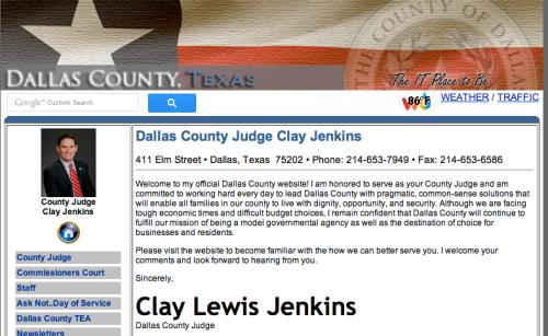 judge clay lewis jenkins ebola dallas texas