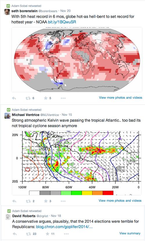 Adam Sobel climatologist foolish tweets
