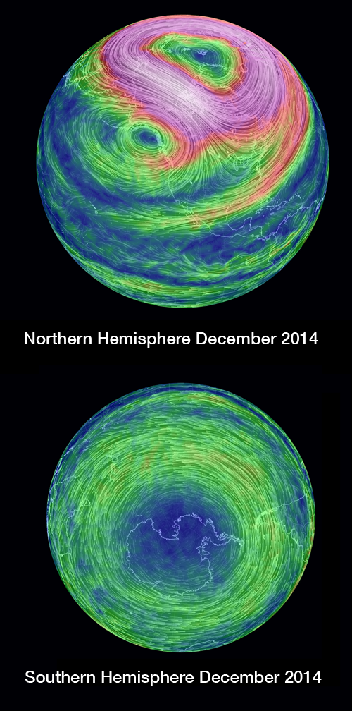 Southern and Northern Hemispheres December 2014