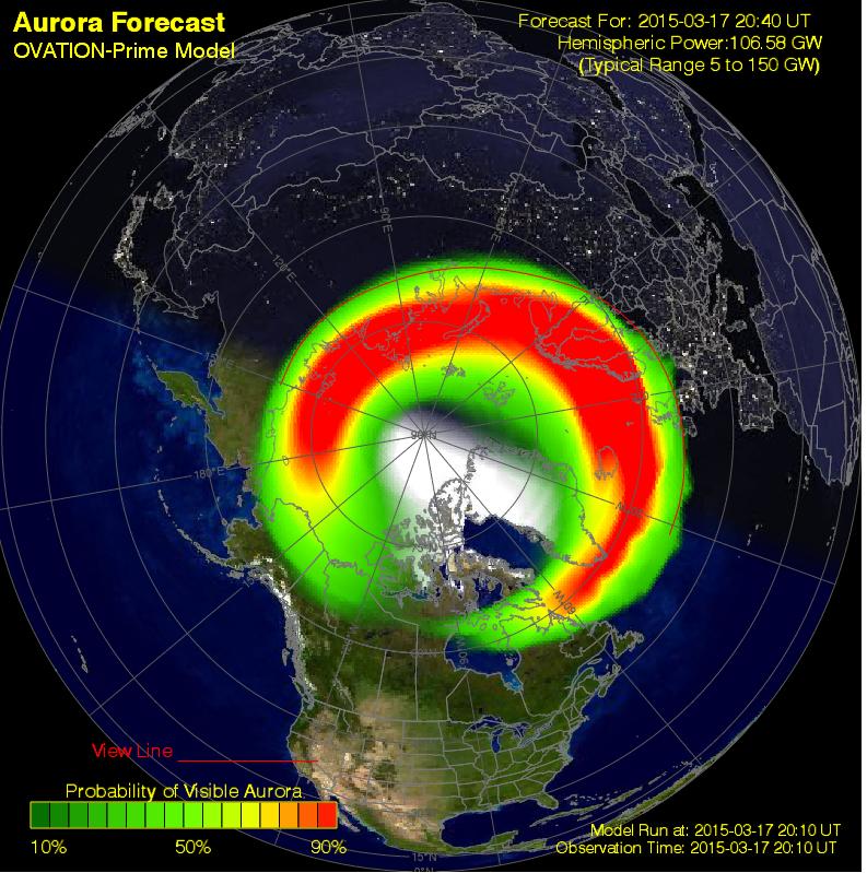Northern Lights Forecast Map