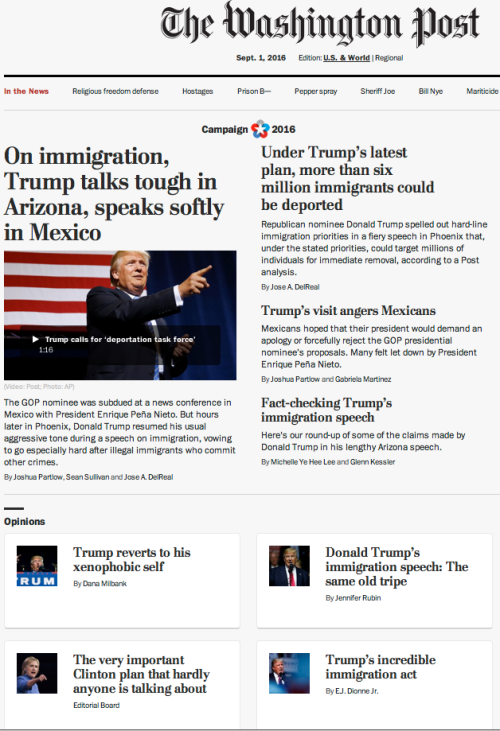 Washington post goes insane because of Trump