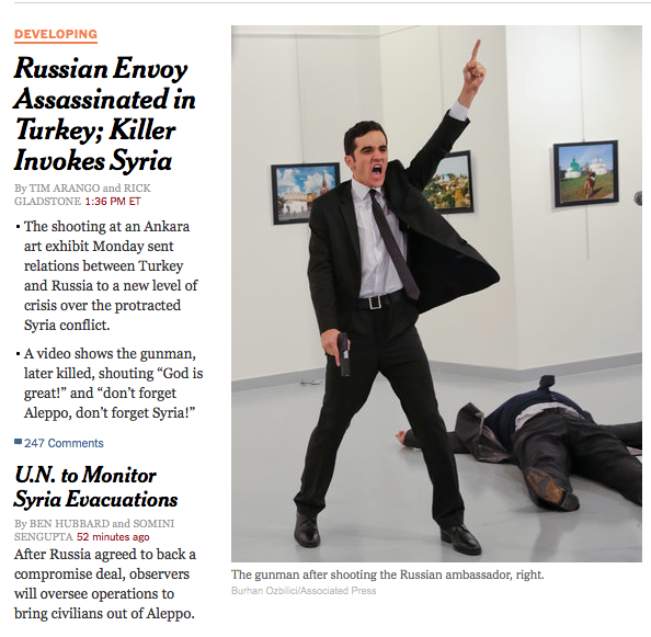 Russian Ambassador To Turkey Assassinated By Special